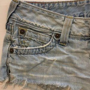 True Religion Shorts - True Religion Bobby Cut Off Shorts